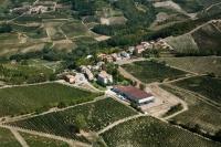Veduta aerea della fraz. Caseo nel Comune di Canevino