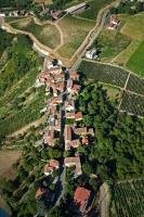 Veduta aerea di Fornace nel comune di Canneto Pavese