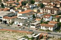 Veduta aerea del Bivio Cava nel comune di Cava Manara