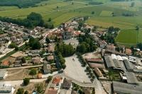 Veduta aerea del santuario delle Bozzole di Garlasco