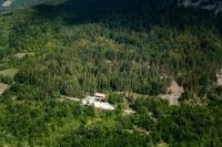 Veduta aerea del Giardino Alpino di Romagnese