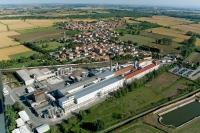 Veduta aerea della fraz. Guinzano nel comune di Giussago