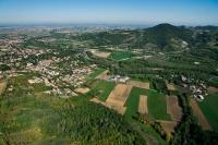 Vedua aerea di Salice terme nel comune di Godiasco