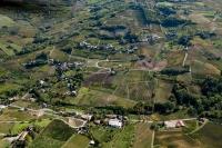 Veduta aerea di Casa Pegorini e Chiappeto nel comune di Golferenzo