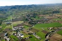 Veduta aerea di Montebello della Battaglia