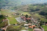 Veduta aerea del Comune di Montescano e centro riabilitativo Fondazione Salvatore Maugeri