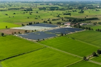 Impianto di pannelli solari vicino a Ottobiano