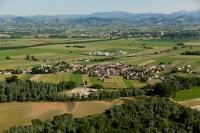 veduta aerea di Pancarana