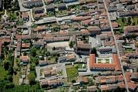 Veduta aerea di Parona, paese delle Offelle