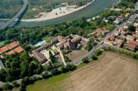 Veduta aerera della chiesa di S. Lanfranco a Pavia