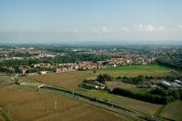 Veduta aere a di Pavia rione Città Giardino