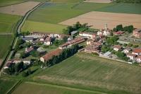 Veduta aerea di Fossarmato nel Comune di Pavia