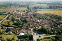 Veduta aerea di Pavia rione Mirabello