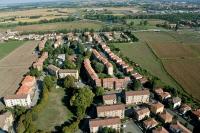 Veduta aerea di Pavia rione Scala