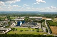 Veduta aerea dello stabilimento Riso Scotti di Pavia
