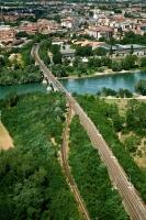 Pavia, ponte della ferrovia