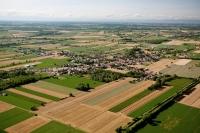 Veduta aerea di Pinarolo Po