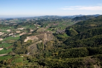 Veduta aerea della fraz. Carmelo nel comune di Val di Nizza