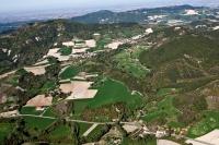 veduta aerea della fraz. Prendomino nel comune di Val di Nizza