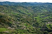 Veduta aerea di Fraz. Gabbione nel comune di Romagnese