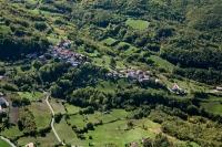 Veduta aerea della fraz. Gazzi nel comune di Romagnese
