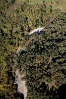 Verduta aerea del giardino Alpino di Pietra Corva nel comune di Romagnese