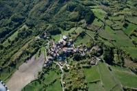 Veduta aerea di Patricchia nel comune di Romagnese