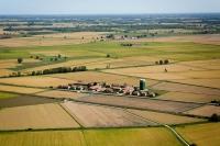 Veduta aerea di Sartirana Cascina Mora