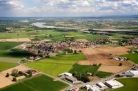 Immagini aeree del Comune di Travaco SIccomario, provincia di Pavia