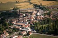 Veduta aerea di Trivolzio