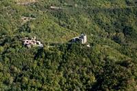 Veduta del Castello di Oramala nel comune di Val di Nizza