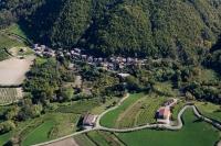 Veduta aerea della fraz. Pizzocorno nel comune di Val di Nizza