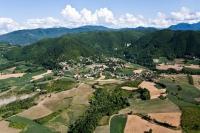 Vedute aeree di S. Albano, Val di Nizza, provincia di Pavia
