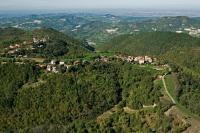 Veduta aerea di S. Alberto di Butrio e fraz. Panzini nel comune di Val di Nizza