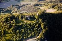Veduta aerea del castello Verde nel Comune di Valverde