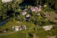 Veduta aerea della fraz. Mandasco nel Comune di Valverde