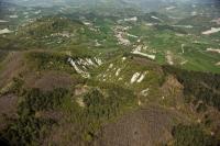 Veduta aerea del parco di Valverde in Oltrepo Pavese