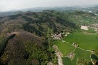 Veduta aerea di Valverde, Oltrepo Pavese