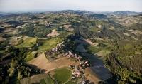 Veduta aerea della Fraz. Calghera nel Comune di Valverde