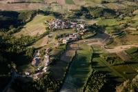 veduta aerea della fraz. Casa d'Agosto nel Comune di Valverde