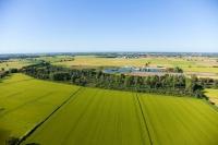 Foto aeree di Villa Biscossi, provincia di Pavia