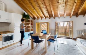appartamento mansardato per studenti