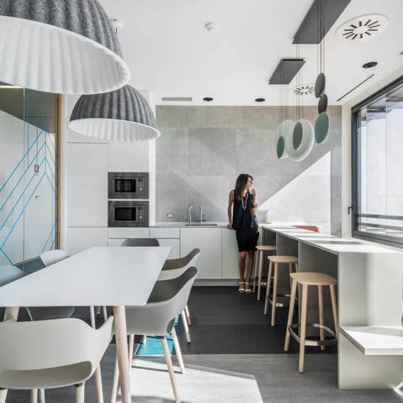 progetto di interior design di Unispace Milano
