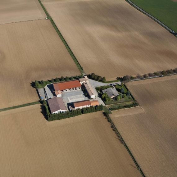 Veduta aerea della pianura pavese