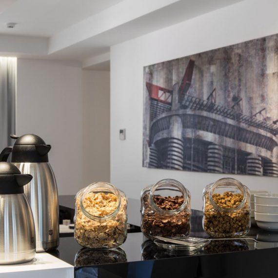 fotografo hotel Milano studio Inn, la colazione
