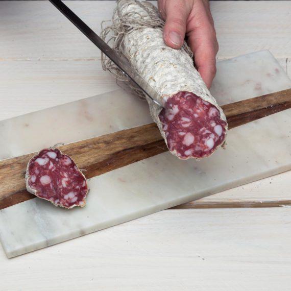 fotografo food salumi come tagliare il salame