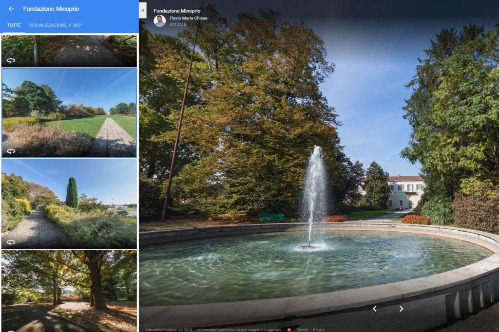 Fotografo certificato Google tour virtuale fondazione Minoprio