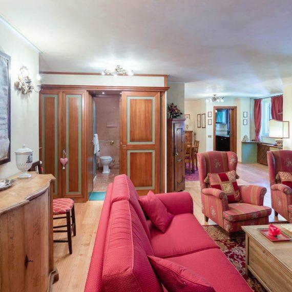 fotografo i interni salotto Madonna di Campiglio