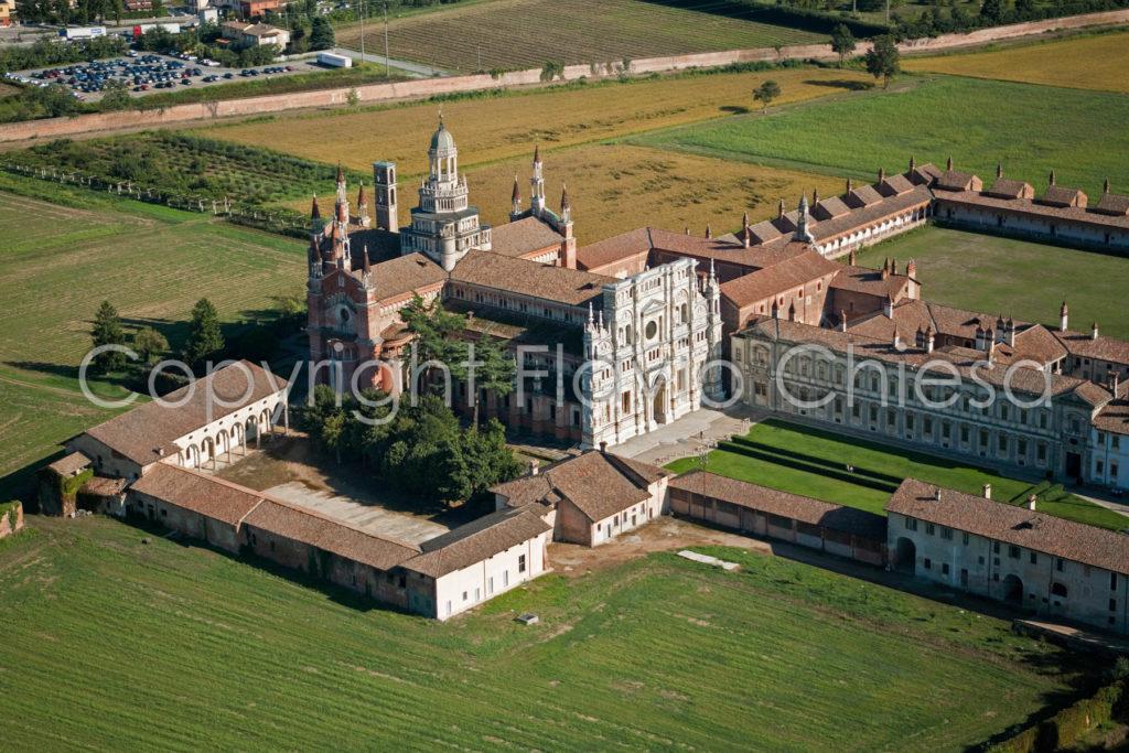 Riprese-aeree-della-Certosa-di-Pavia-in-provincia-di-Pavia