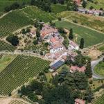 Riprese aeree del Comune di Casteggio Oltrepo Pavese in provincia di Pavia